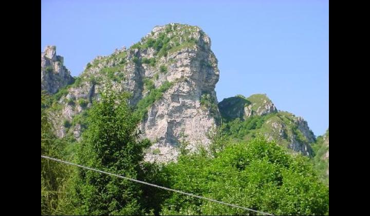 Particolare della corna di Caspai